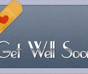 get well soon and sick image