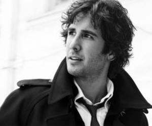 black and white, josh groban, and singer image