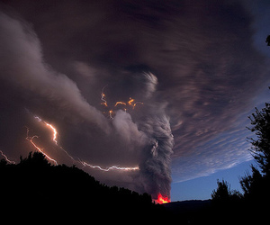 fire, scary, and storm image