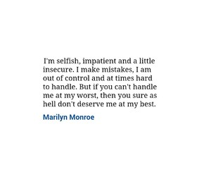 quotes, selfish, and love image