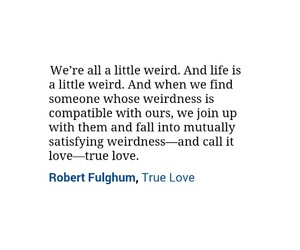 quotes, weird, and love image