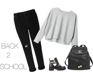 girl, school, and outfit image