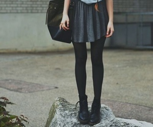 girl, skirt, and grunge image