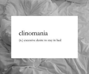 bed, sleep, and clinomania image