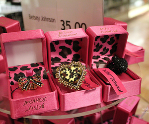 pink, rings, and betsey johnson image