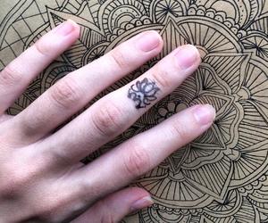 drawing, lotus, and mandala image
