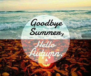 hello autumn and goodby summer image