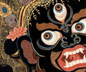 black, buddhism, and gold image