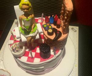 birthday, blonde, and cake image