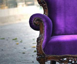 chair, purple, and velvet image