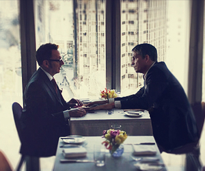 person of interest, john reese, and harold finch image