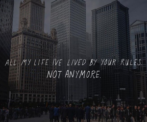 divergent, quote, and rules image