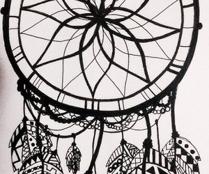 drawing, dreamcatcher, and like image
