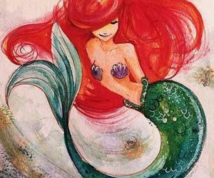 the little mermaid, ariel, and artwork image