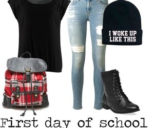 follow, Polyvore, and school image