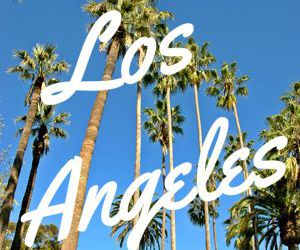 Angeles, palm trees, and summer image
