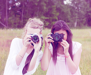 girl, friends, and camera image