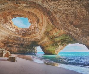 beach, portugal, and sea image