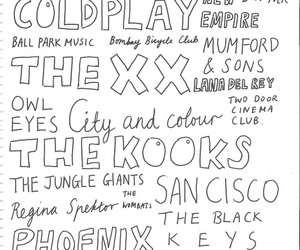 music, coldplay, and the xx image