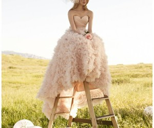 dress, model, and pink image