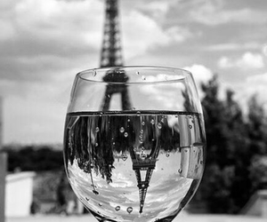 black and white, glass, and photography image