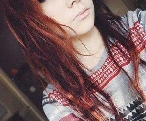 girl, scene, and hair image