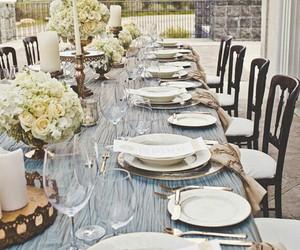 wedding, decoration, and dinner image