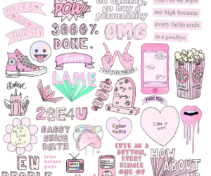 pink, tumblr, and transparents image