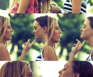 bff, leighton meester, and sisters image