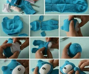 diy, cute diy, and diy sock puppet image