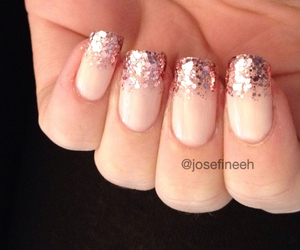 french, pink, and naildesign image
