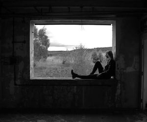 abandoned, blank and white, and cool image