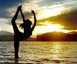 dance, sunset, and sun image