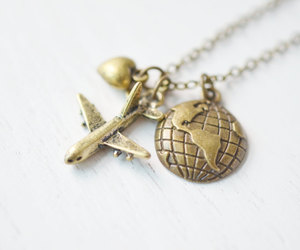 airplane, bff necklace, and airplane necklace image
