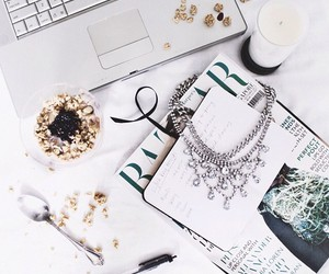 necklace, white, and laptop image