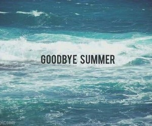 summer, goodbye, and sea image
