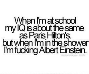 school, paris hilton, and iq image