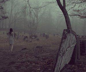cemetery, dark, and alone image