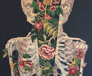 bones, cool, and flowers image