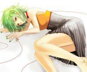 gumi, megpoid, and red ribbin image