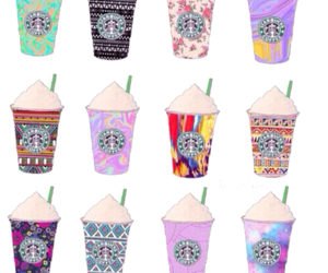 starbucks, design, and colorful image