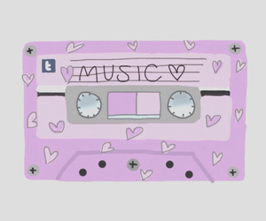 drawn, pink, and tapes image