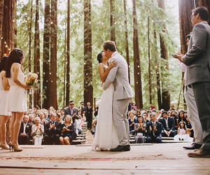 beautiful, couple, and forest image