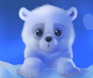 cute, bear, and white image