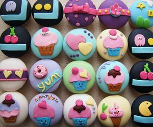 cupcake, yummy, and cherry image