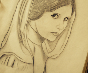 drawing, Princess Leia, and starwars image