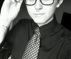 confident, personal, and Piercings image