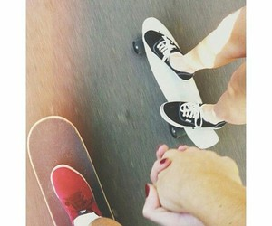 love, skate, and couple image