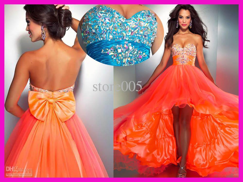 orange prom dress - Google Search on We Heart It