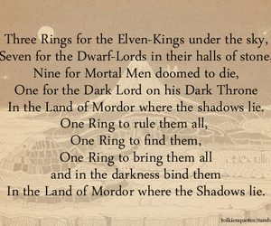 LOTR, quote, and the one ring image